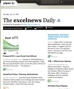 Screenshot of Excel News on Paperli